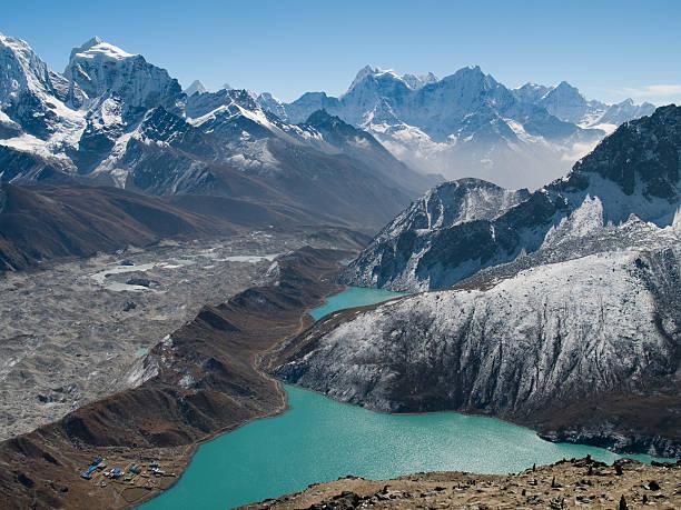 see gokyo ri - nepal tibet stock-fotos und bilder