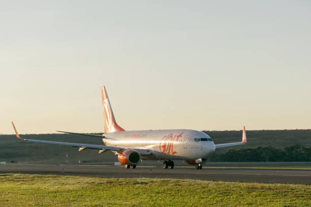 Gol Linhas Aéreas aeronave - foto de acervo