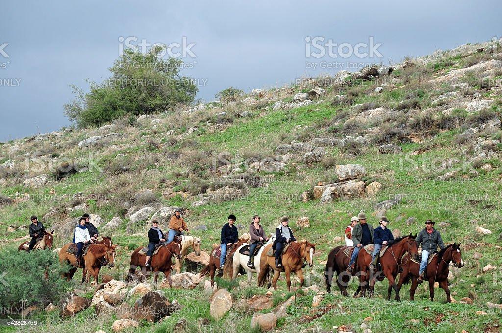 Golan Heights - Israel stock photo