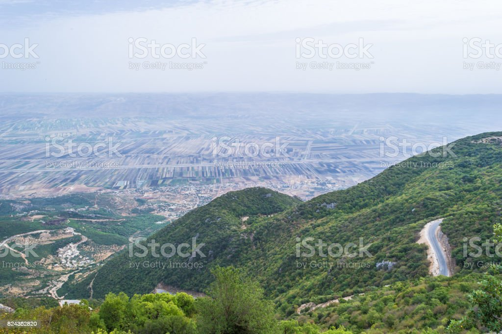 Golan Heights, Landscape of the nature of Syria stock photo