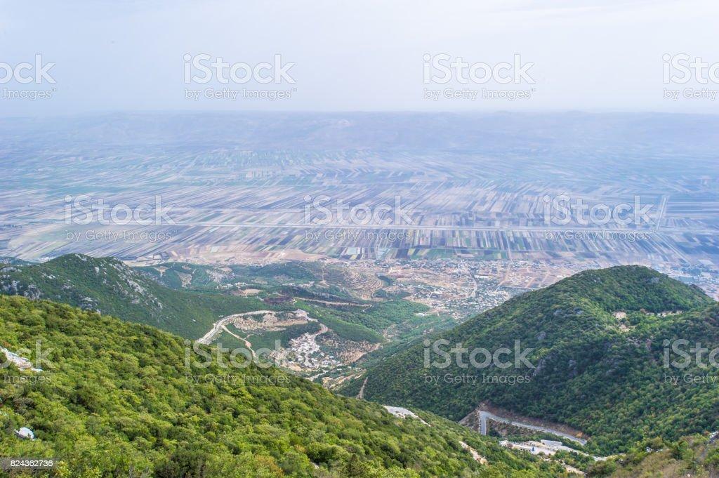 Golan Heights, Rocks of Syria stock photo