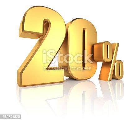 istock Gold 20 Percent 532791825