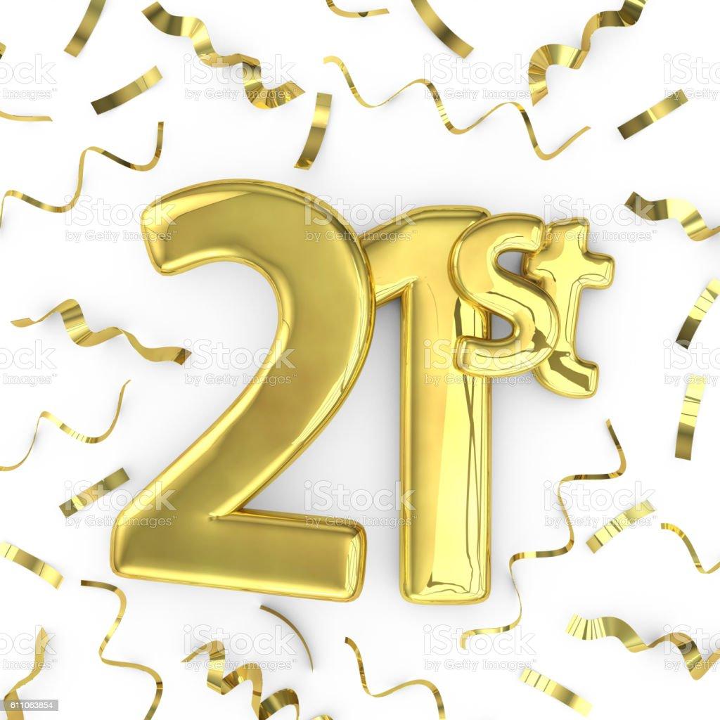 Gold 21st Party Birthday Event Celebration Background