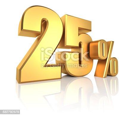 istock Gold 25 Percent 532792575
