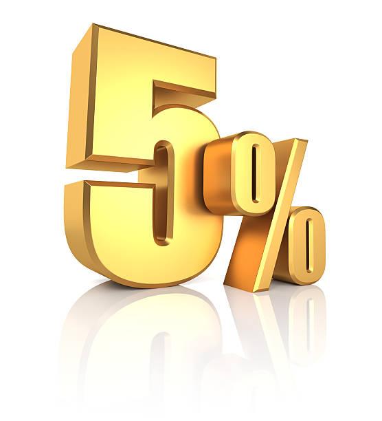 Gold 5 por cento - foto de acervo
