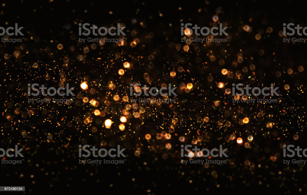 Gold abstarct background and confetti stock photo