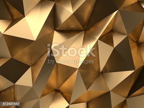 istock Gold Abstract 3D-Render Background 512401542