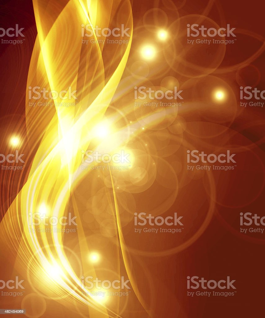 gold abstract composition stock photo