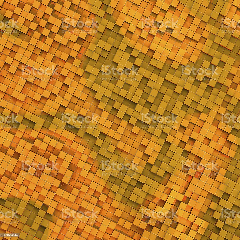 Gold abstract image of cubes background royalty-free stock photo
