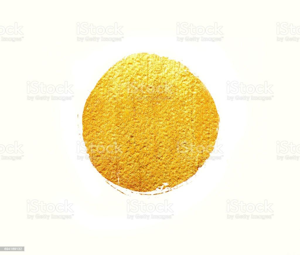 Gold acrylic circle stock photo