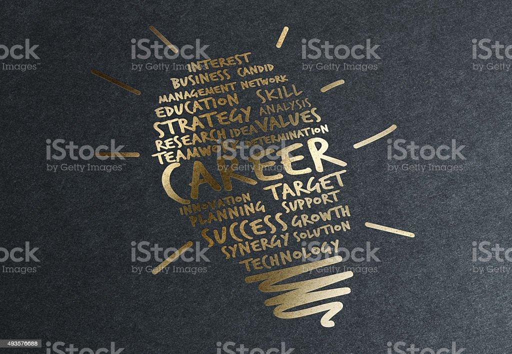 Gold Advice: Improve Your Career stock photo