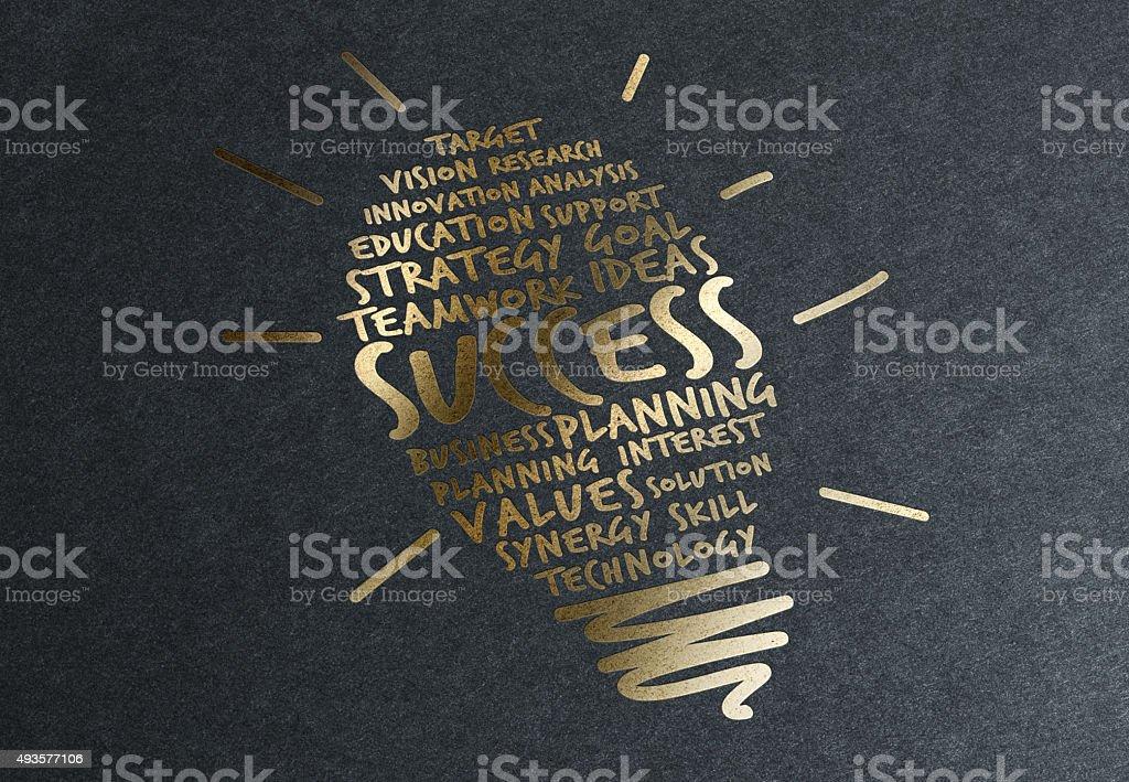 Gold Tipp: Geheimnisse für den Erfolg Lizenzfreies stock-foto