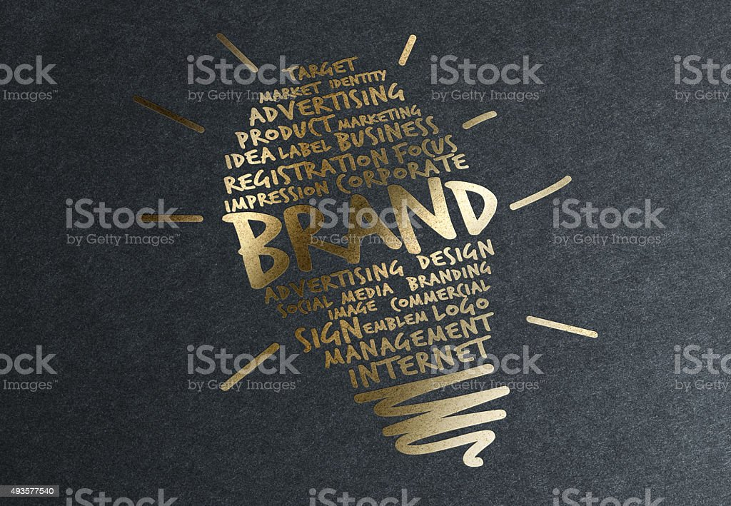 Gold Advice: Successful Brand stock photo