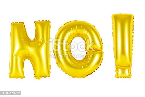 istock Gold alphabet balloons, acronym and abbreviation, no 1131575282