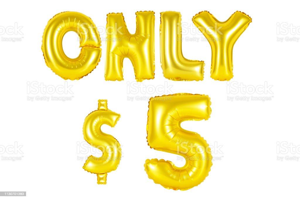 Gold Alphabet Luftballons, nur fünf Dollar – Foto