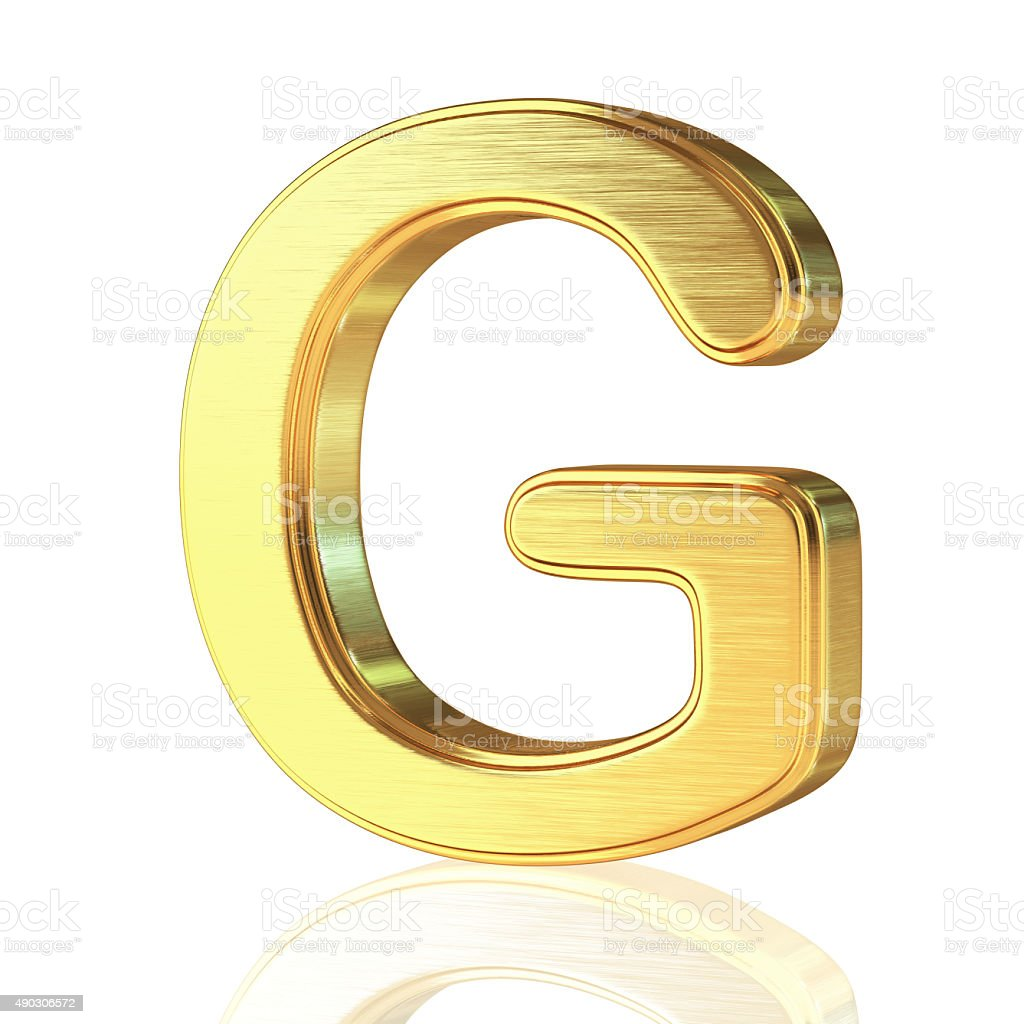 Gold Alphabet Letter G stock photo