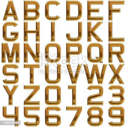 istock Gold alphabet (Extra Large Size!) 133379665