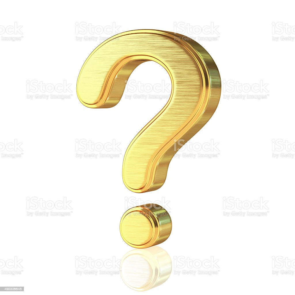 Gold Alphabet Question Mark foto