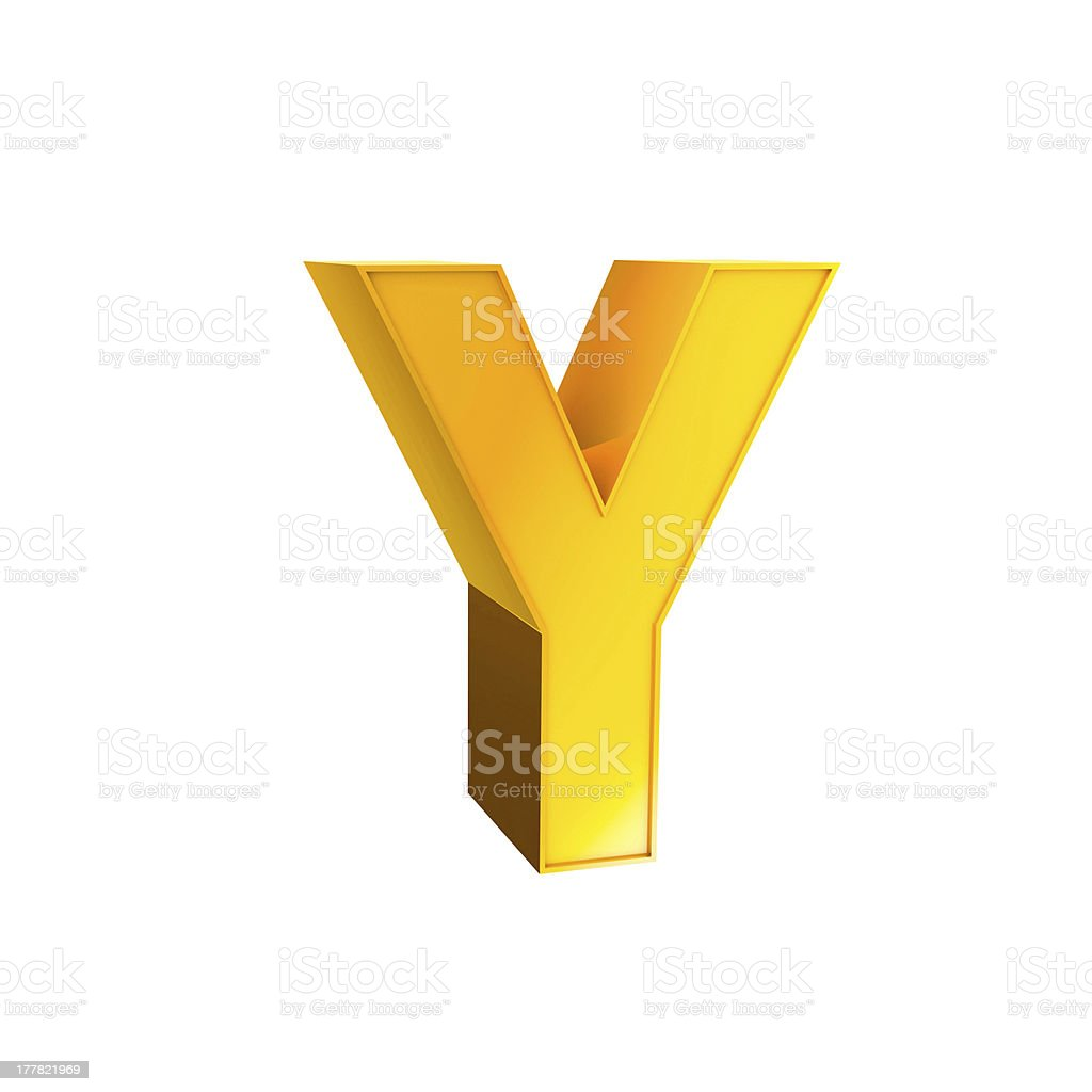 Gold Alphabet Typography Symbol royalty-free stock photo