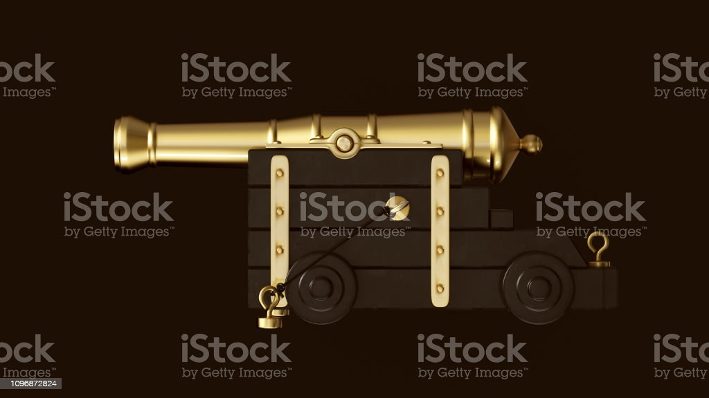 Gold an Black Cannon stock photo