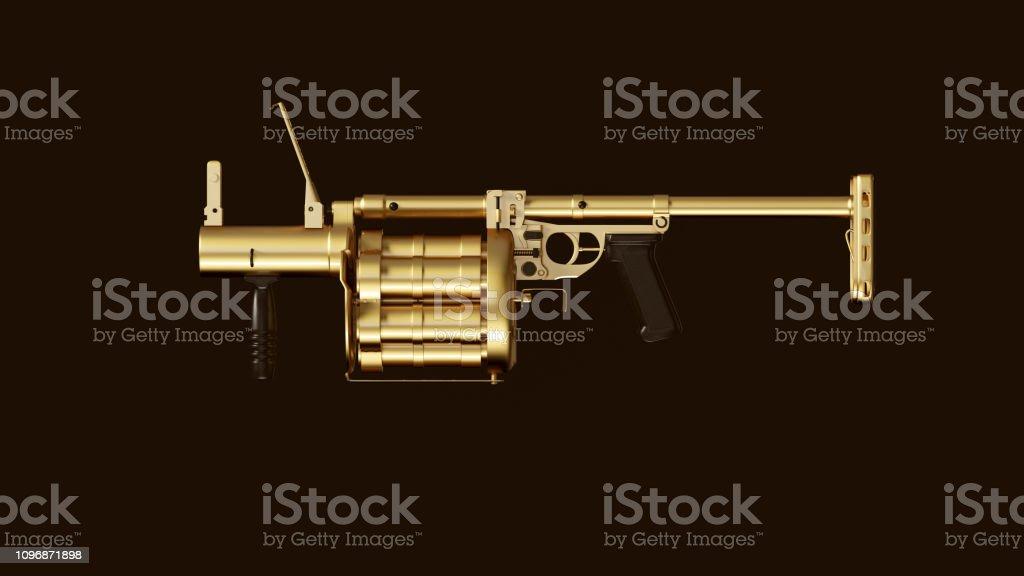 Gold an Black Grenade Launcher stock photo