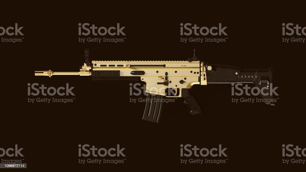 Gold an Black Large Rifle stock photo