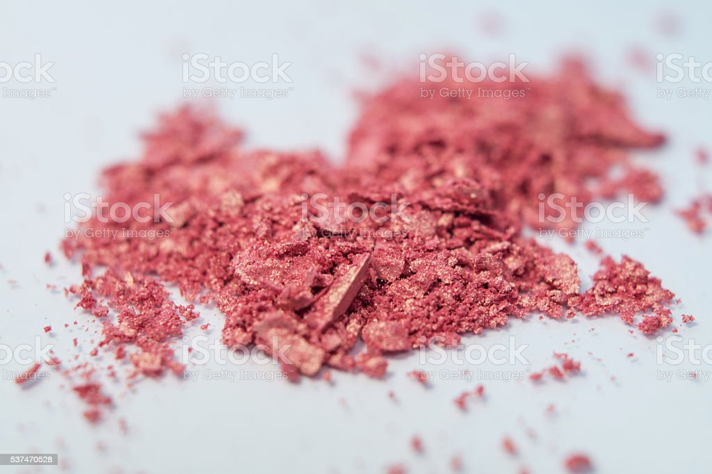 gold and coral eyeshadow makeup cosmetic powder pigment royalty-free stock photo