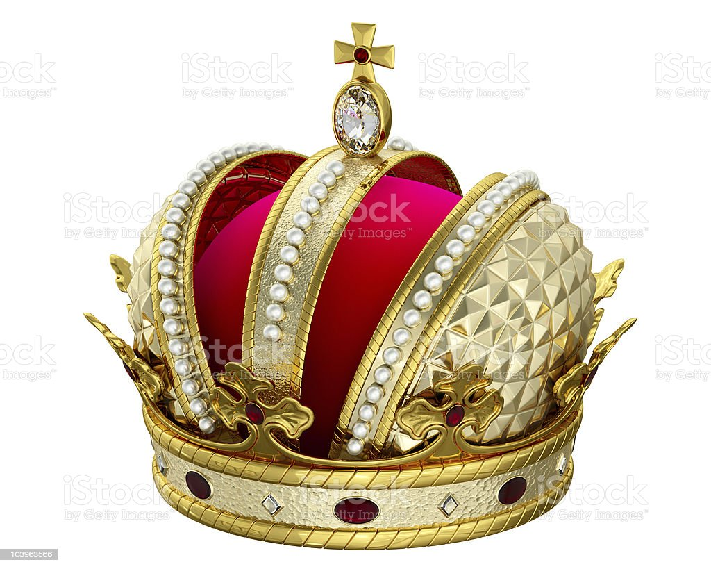 Gold and jewel embellished King's crown royalty-free stock photo