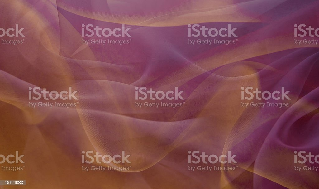 Gold and lavendar flowing light royalty-free stock photo
