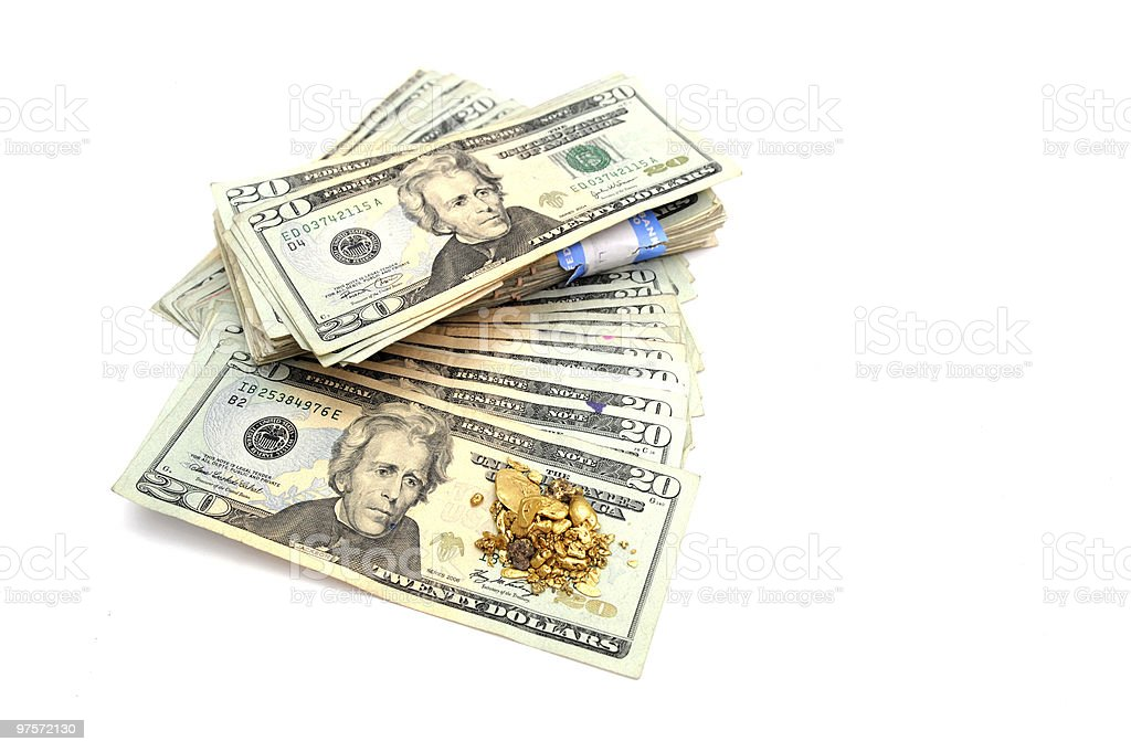 Gold And Money royalty-free stock photo