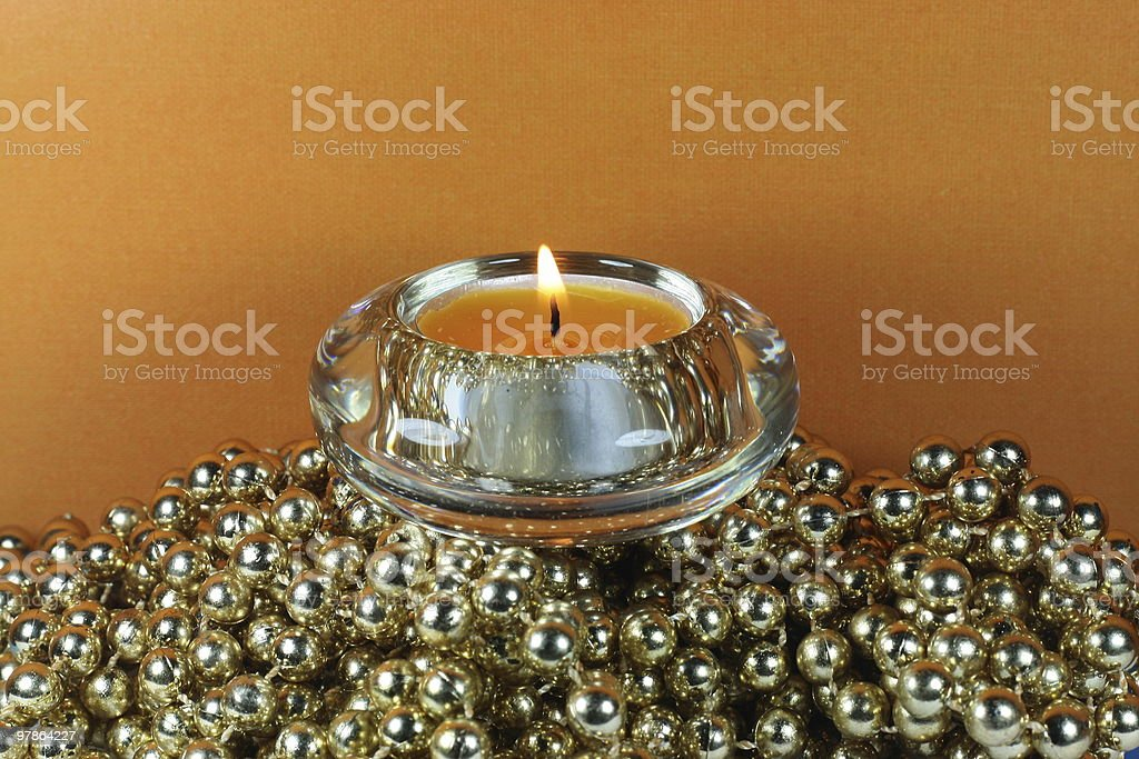 gold and orange with candle royalty-free stock photo
