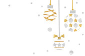 istock Gold and silver glitter christmas balls paper cut 1026473826