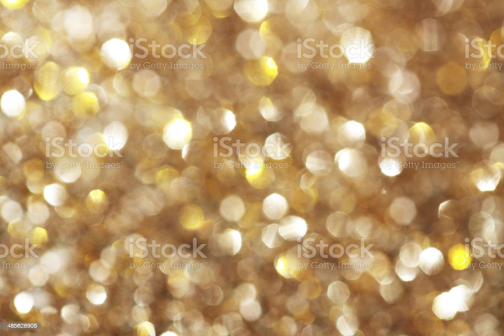 Gold and silver glitters sparkle background stock photo