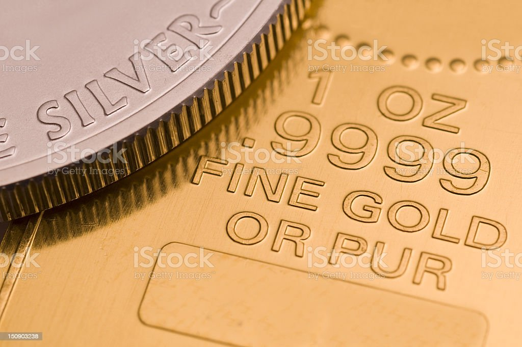 Gold and silver royalty-free stock photo
