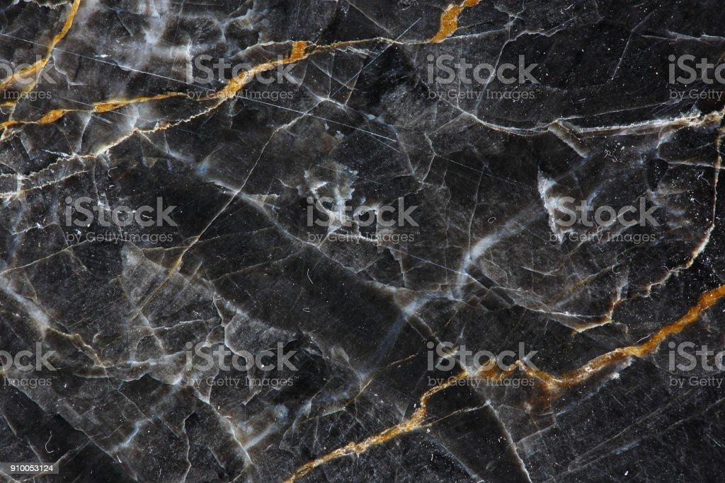Gold und Weiß gemustert natürlich dunkel grauem Marmor (Gold Russland) Textur Hintergrund für Produkt-Design. – Foto