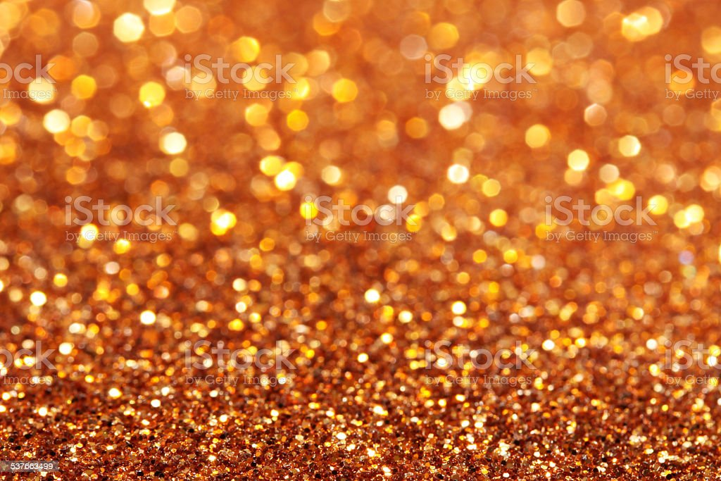 Gold and yellow and orange soft lights abstract background stock photo