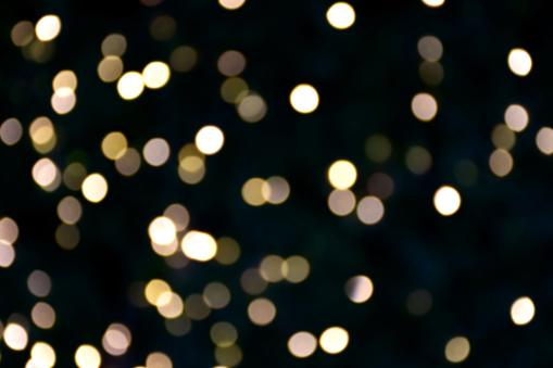 Goud En Geel Kleur Bokeh En Vervagen Van Het Licht Stockfoto en meer beelden van Abstract