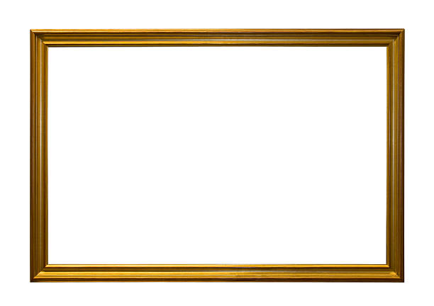 Royalty Free Thin Golden Frame With Clipping Path Pictures, Images ...