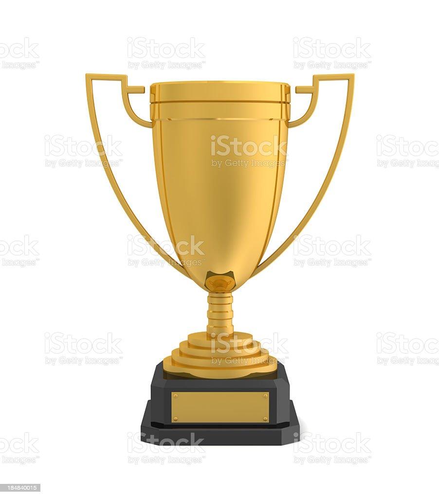 Gold Award Cup stock photo