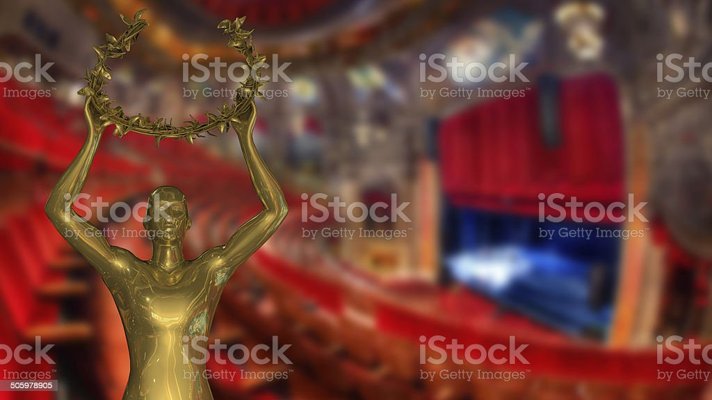 Gold Award - Stock Image stock photo