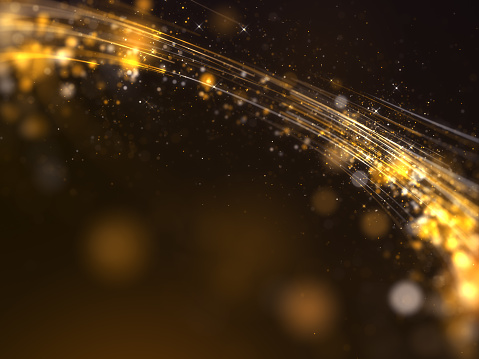 666540036 istock photo Gold awards with particles stripe background 1203968900