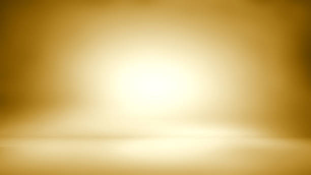 Gold background - empty background - empty studio room 3d3d studio stock pictures, royalty-free photos & images