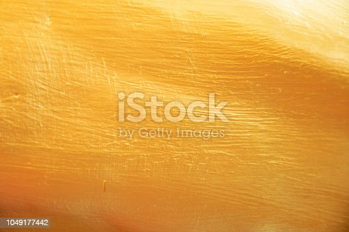 istock Gold background or texture and gradients shadow. 1049177442