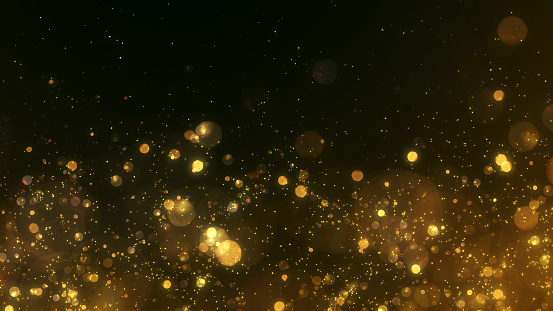 Gold, Sparks, Glitter, Particle, Gold Colored, Lighting Equipment, Christmas, Christmas Lights, Holiday - Event, Celebration Event