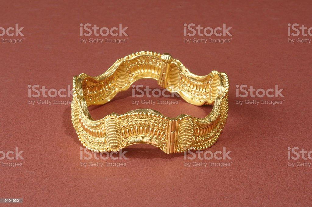 Gold bangle stock photo