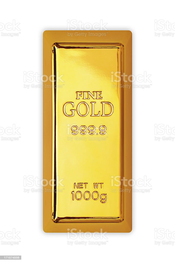 Gold bar royalty-free stock photo