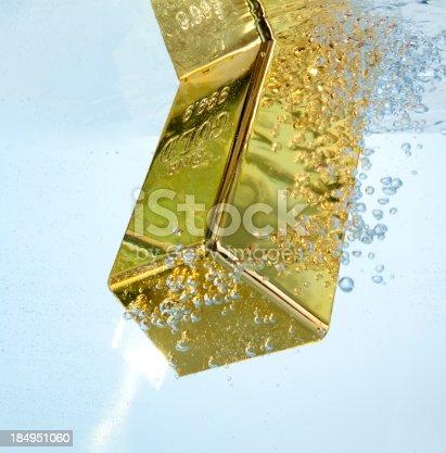 gold bar underwater