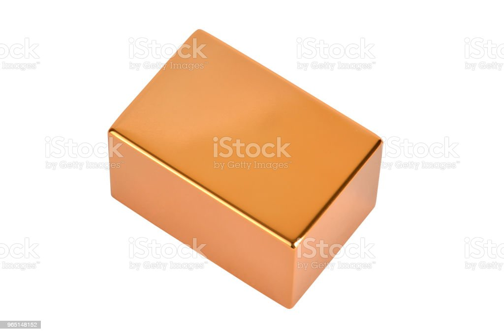 Gold bar with clipping path royalty-free stock photo