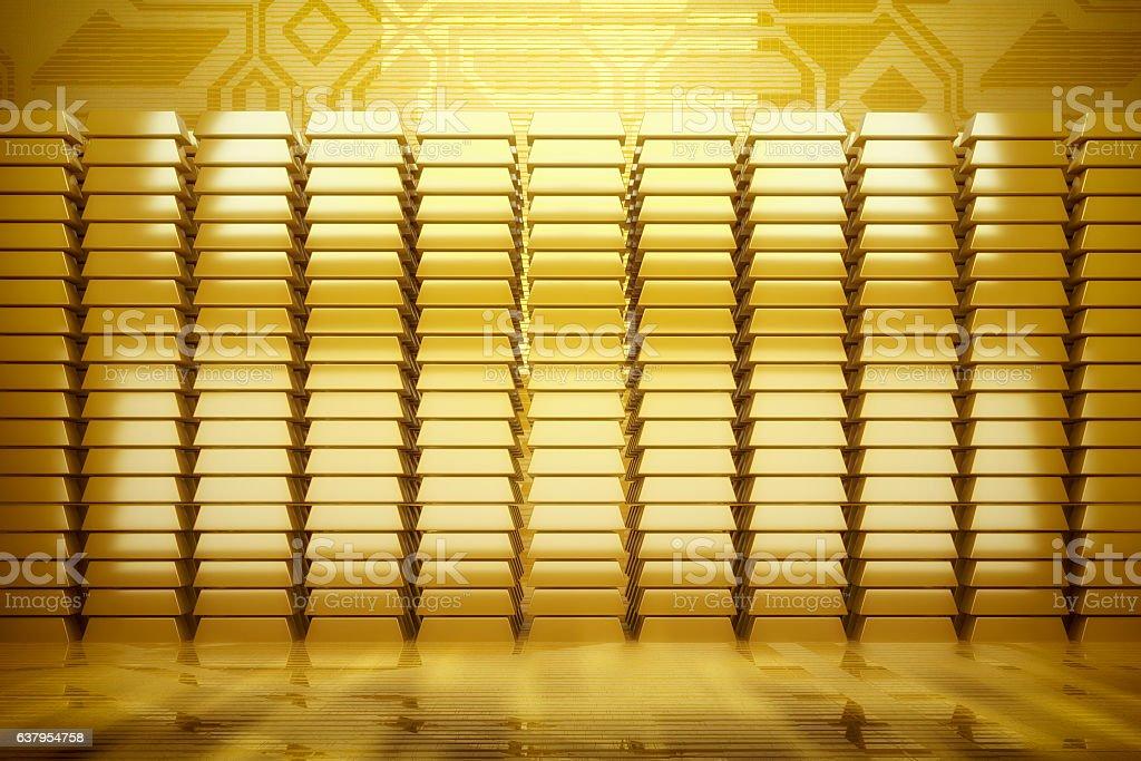 Gold bars background stock photo