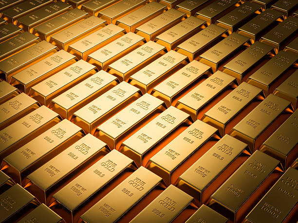 Fundo de barras de ouro série - foto de acervo